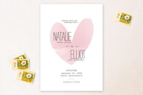 The Write Type Save The Date Cards