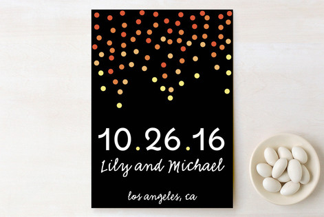 Ombre Confetti Save The Date Cards