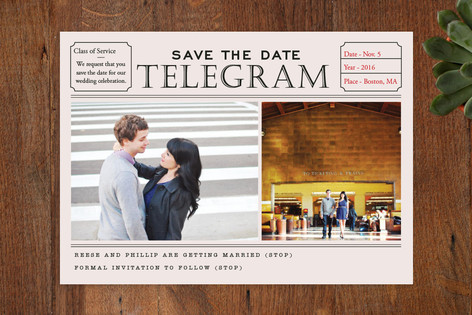 Telegram Save The Date Cards