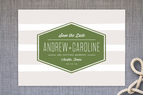 Badge Save The Date Cards