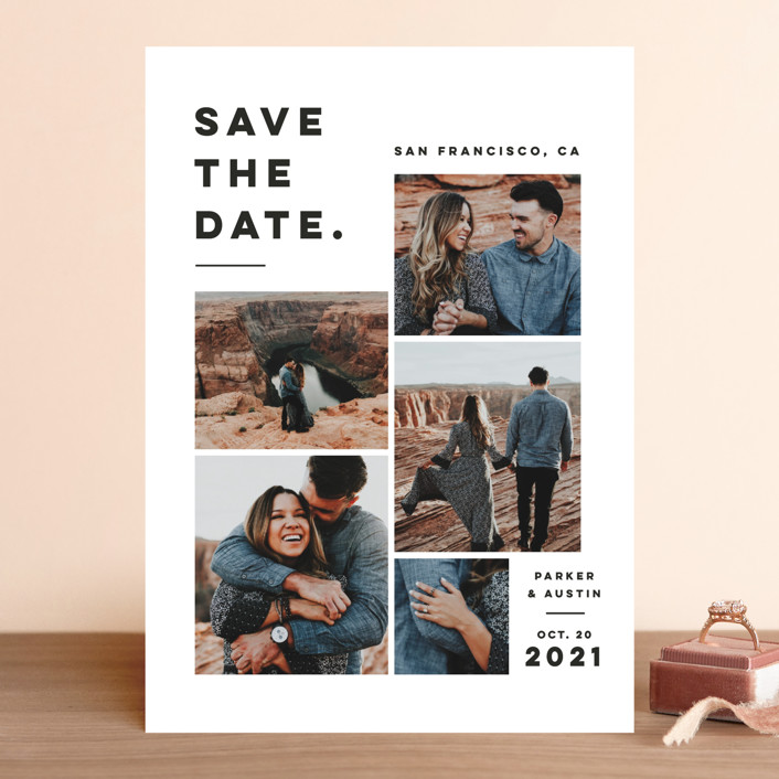 """Merry All Year."" - Save The Date Cards in Fog by Pink House Press."