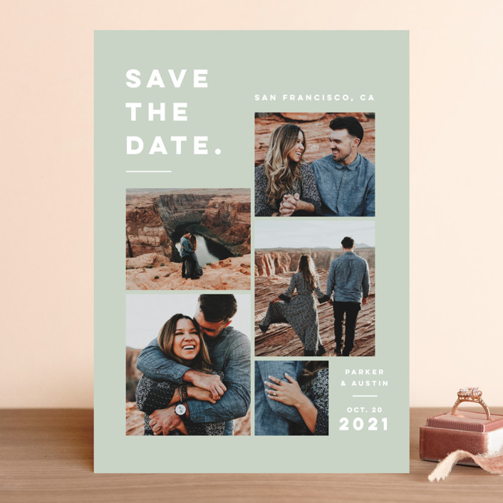 """Merry All Year."" - Save The Date Cards in Eucalyptus by Pink House Press."
