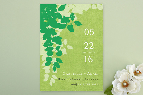 Spring leaves Save The Date Cards