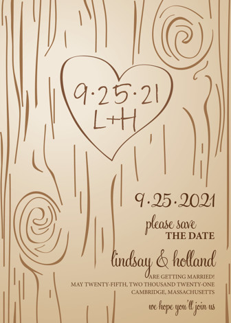 Fall Carving Save The Date Cards by Amanda Joy Minted