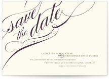 Winter Flourish Save The Date Cards