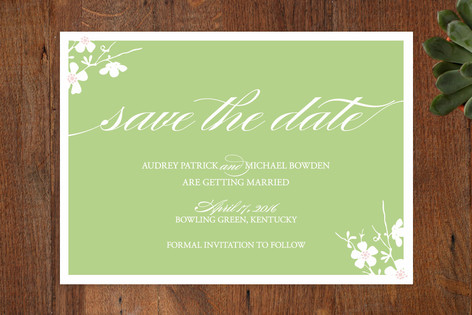 Blossom Shower Save The Date Cards