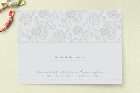 Winter Stitch Save The Date Cards