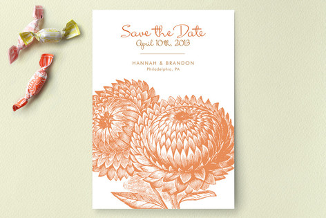 English Garden Save The Date Cards