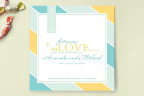 First Comes Love... Save The Date Cards