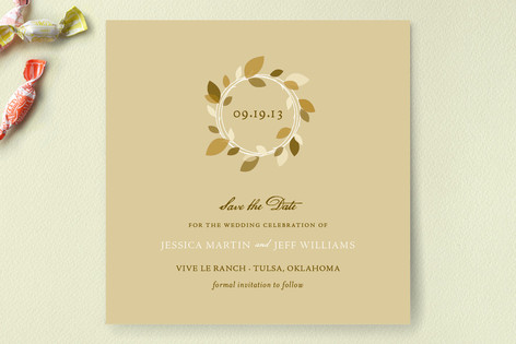 Autumn Wreath Save The Date Cards