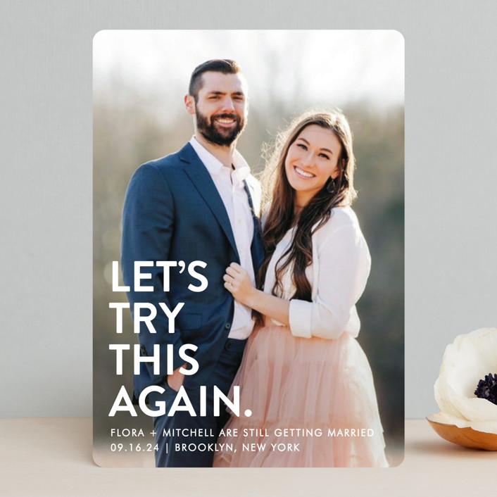 """""""Let's I Do This Photo"""" - Funny Save The Date Cards in Snow by Ellis."""