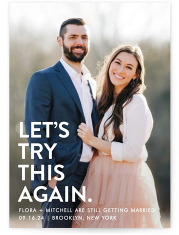 Let's I Do This Photo Save The Date Cards