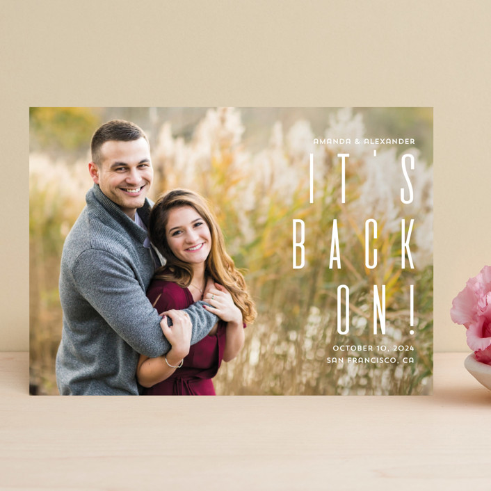 """Save the date"" - Save The Date Cards in Fog by Remioni."