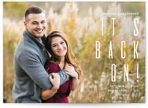 This is a white save the date by Remioni called Save the date with standard printing on smooth signature in standard.