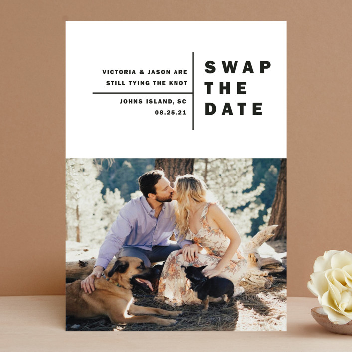 """""""Baseline"""" - Save The Date Cards in Midnight by Alethia Frye."""