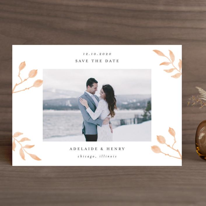 """""""Serenity"""" - Save The Date Cards in Nigella by Lehan Veenker."""