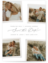 This is a white save the date by Michelle Taylor called Gallery Collection with standard printing on signature in standard.