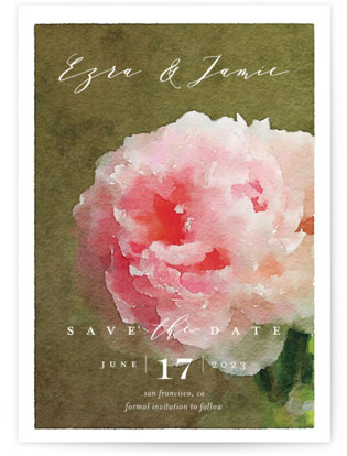 photo of Peony Save The Date Cards