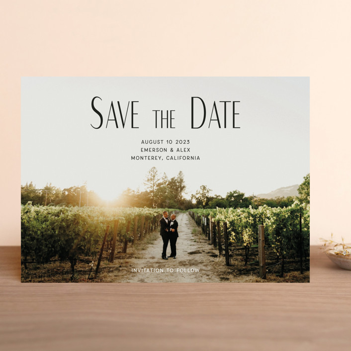 """it's our turn"" - Save The Date Cards in Noir by frances."