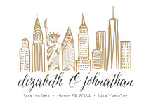Skyline - New York City Save the Date Cards By Abby Munn