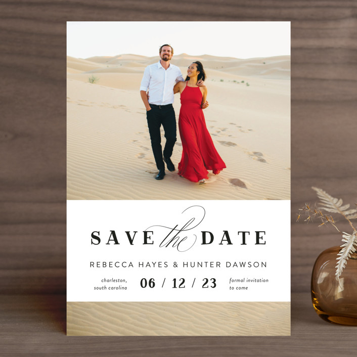 """""""Southern Charm"""" - Save The Date Cards in Noir by Beth Murphy."""