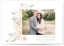 This is a green save the date by Petra Kern called Gentile with standard printing on signature in standard.