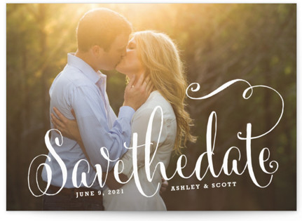 photo of Modern Romance Save The Date Cards