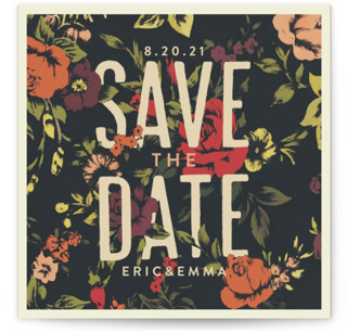 photo of Vintage Blooms Save The Date Cards