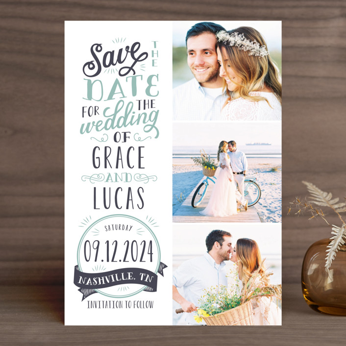 Serendipitous Save The Date Cards By Sarah Brown Minted