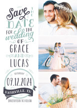 Serendipitous Save the Date Cards By Sarah Guse Brown