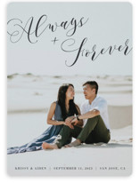 This is a black save the date by Heather Buchma called Always & Forever with standard printing on smooth signature in standard.