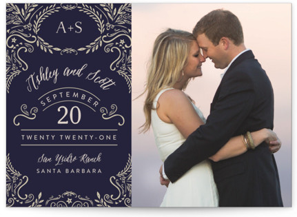 photo of Enchanted Flourish Save The Date Cards