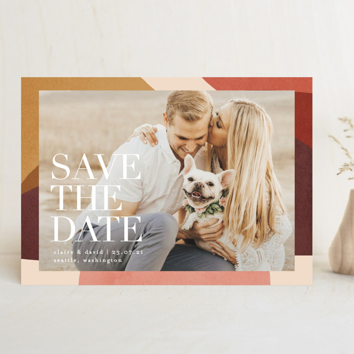 """""""Galeria"""" - Save The Date Cards in Autumn by Kelly Schmidt."""