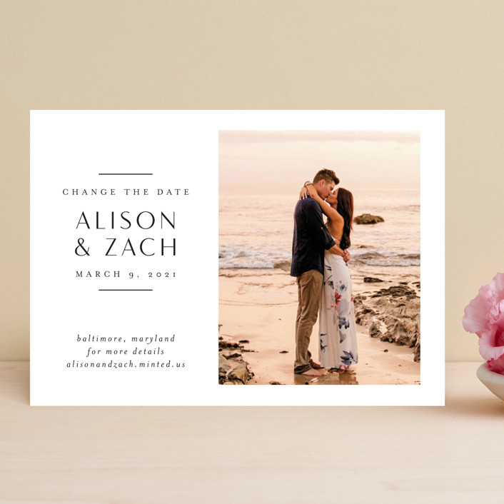 """""""Elegant Space"""" - Save The Date Cards in Sugar by Jessica Williams."""