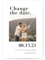 This is a black save the date by Joyce Pinheiro called It's a Date! with standard printing on smooth signature in standard.