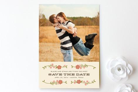 Floral Frame Save The Date Cards