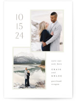 This is a beige save the date by Hooray Creative called Modern duo with standard printing on smooth signature in standard.