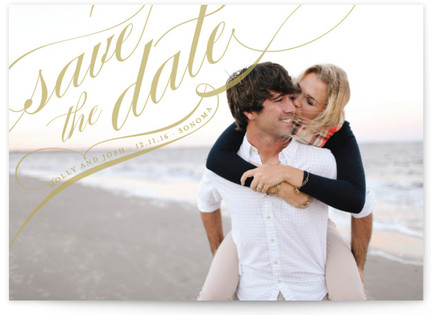 photo of Flourish Save The Date Cards