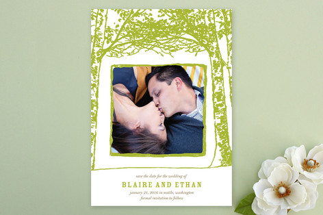 Float + Trees Save The Date Cards