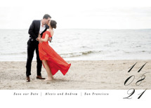 Date in Script Save the Date Cards By Angela Marzuki