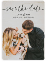 This is a black save the date by Christine Taylor called Pretty Love with standard printing on smooth signature in standard.