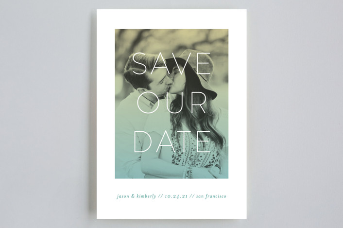"""Bright Future"" - Save The Date Cards in Spring by Simona Cavallaro."