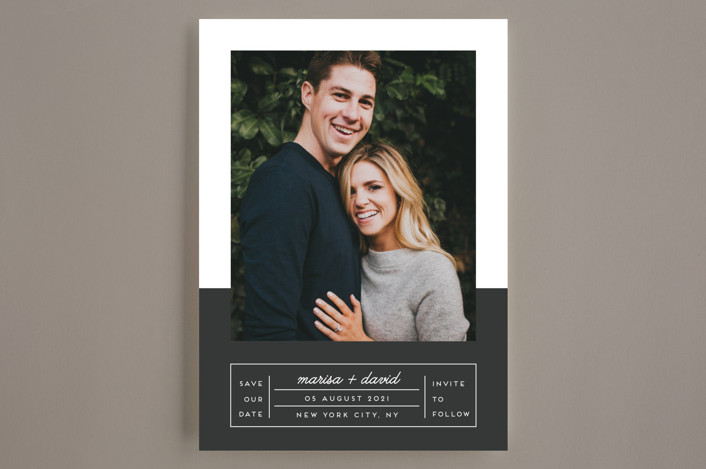"""""""Downtown Chic"""" - Modern Save The Date Cards in Charcoal by Shirley Lin Schneider."""
