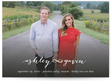 Infinitely Aimed For Love Save the Date Cards