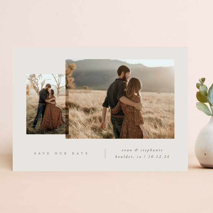"""""""forever together"""" - Save The Date Cards in Stone by Carolyn Nicks."""