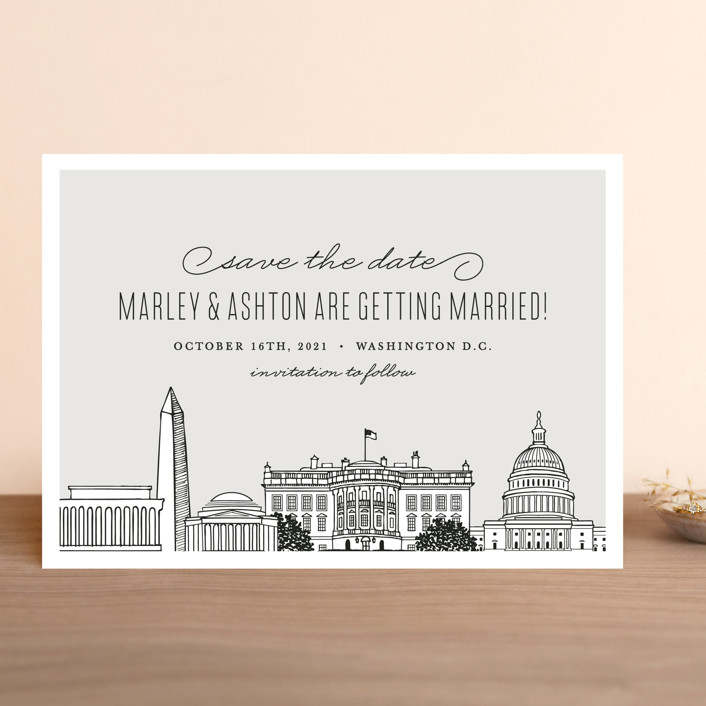 Big City Washington Dc Save The Date Cards By Hooray Creative Minted