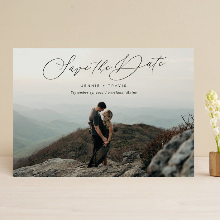"""""""Sweetest Day"""" - Save The Date Cards in Coal by Sandra Picco Design."""