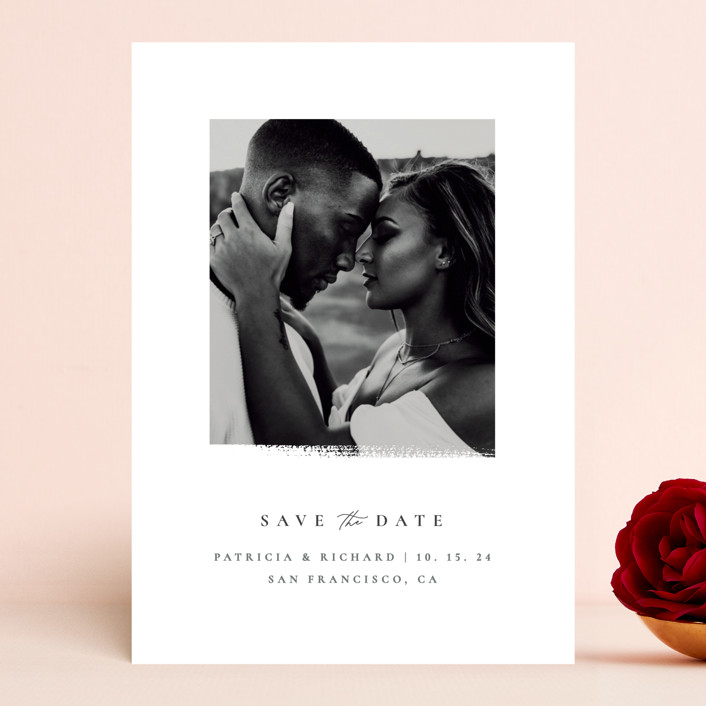 """""""minimalistic paint stroke"""" - Save The Date Cards in Porcelain by Sumak Studio."""
