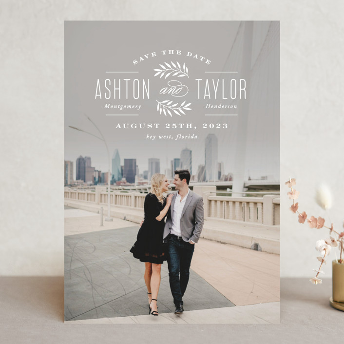 Elegant Engagement Save The Date Cards By Hooray Creative Minted