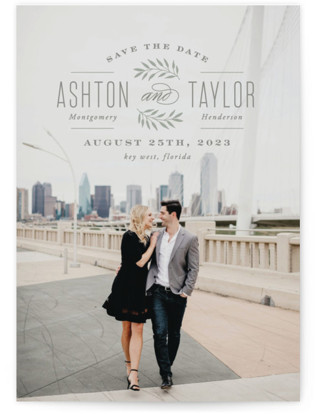 photo of Elegant Engagement Save The Date Cards